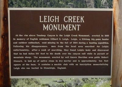 Leigh Creek Monument Marker image. Click for full size.