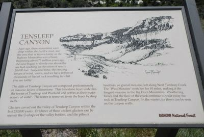 Tensleep Canyon Marker image. Click for full size.