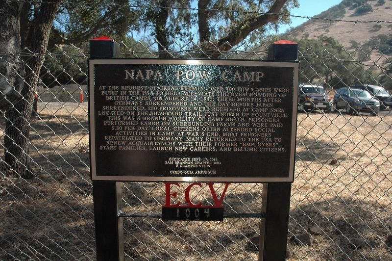 Napa P.O.W. Camp Marker image. Click for full size.