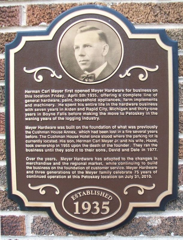 Meyer Hardware Marker image. Click for full size.
