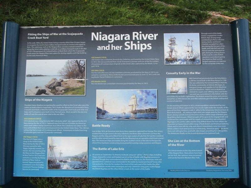 Niagara River and her Ships Marker image. Click for full size.