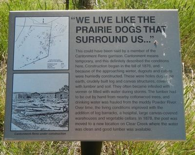 """We live like the prairie dogs that surround us�"" Marker image. Click for full size."
