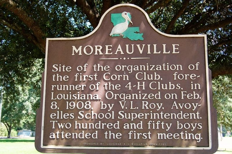 Moreauville Marker image. Click for full size.