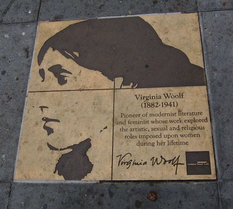 Virginia Woolf Marker image. Click for full size.
