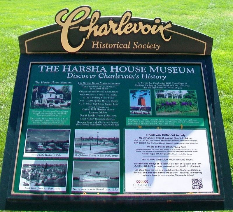 The Harsha House Museum Marker image. Click for full size.