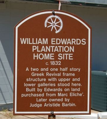 William Edwards Plantation Home Site Marker image. Click for full size.