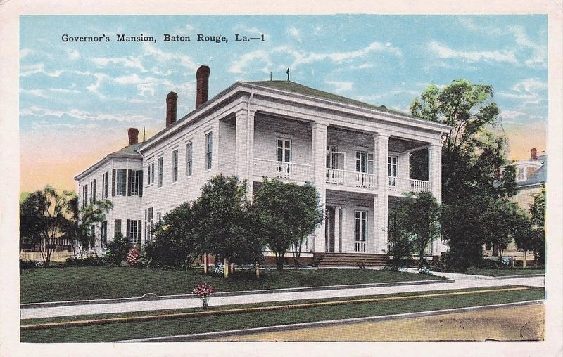 The Old Governor's Mansion - Postcard of Old Old Governor's Mansion image. Click for full size.