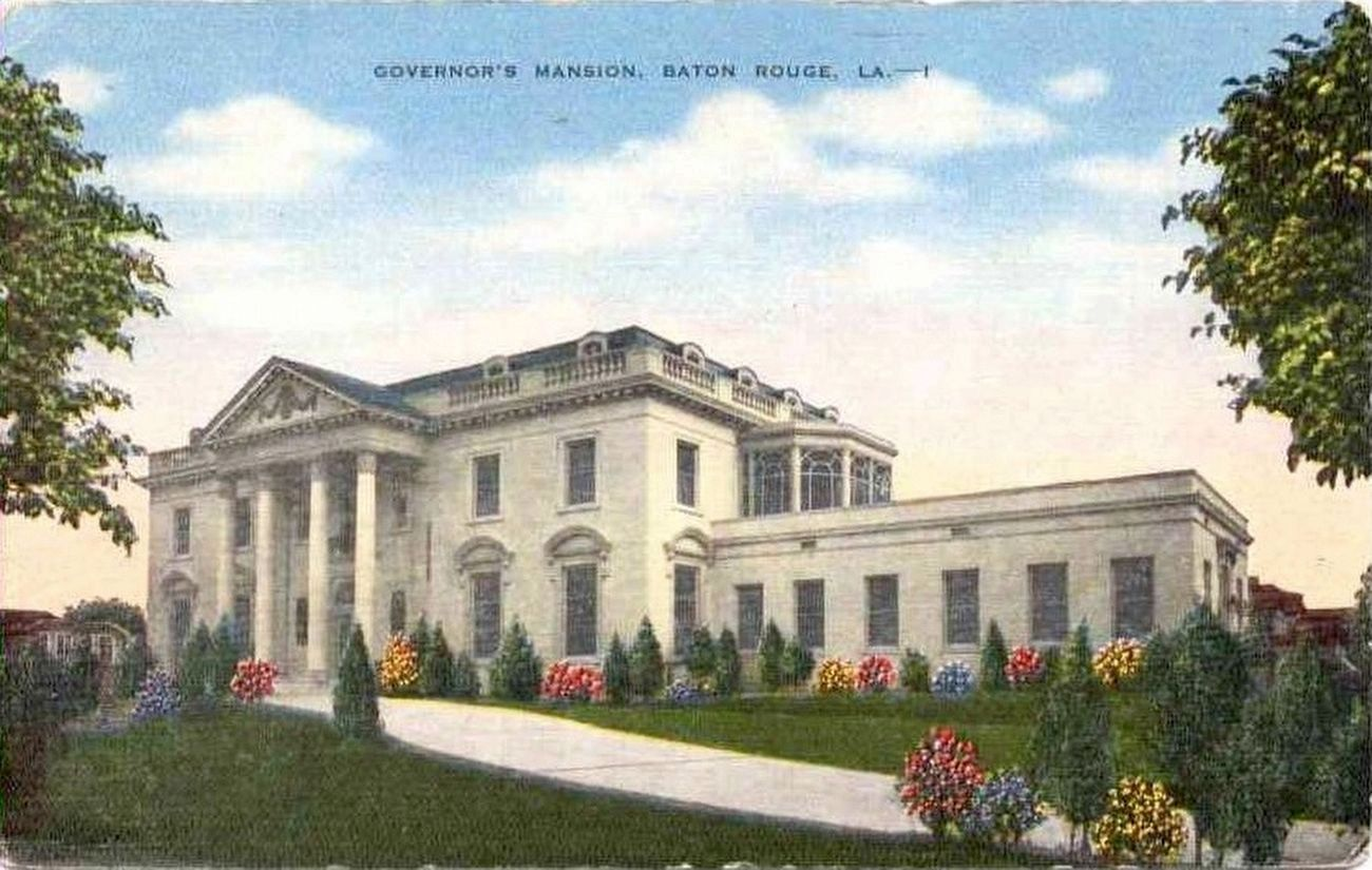 The Old Governor's Mansion - Postcard of Old Governor's Mansion image. Click for full size.