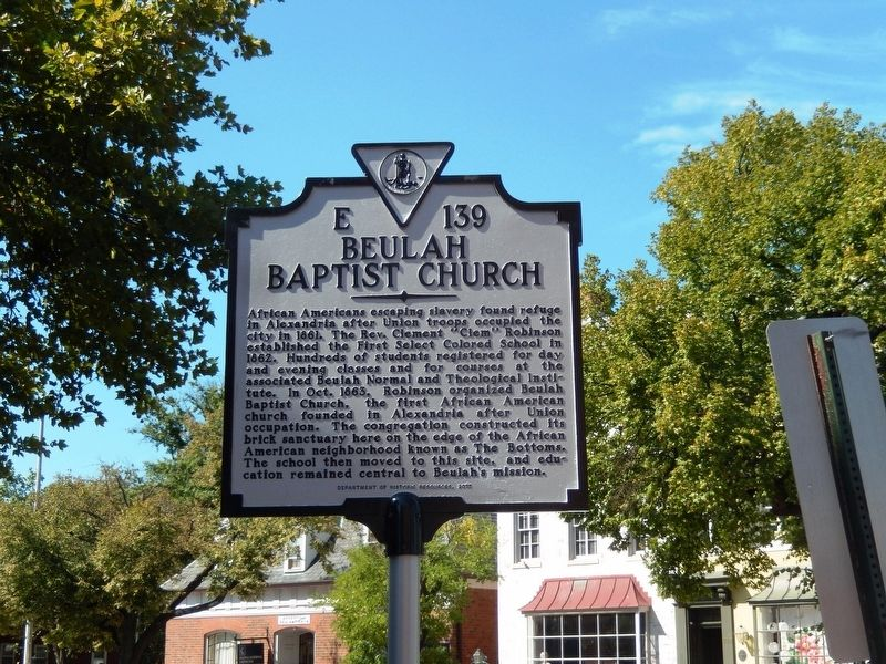 Beulah Baptist Church Marker image. Click for full size.
