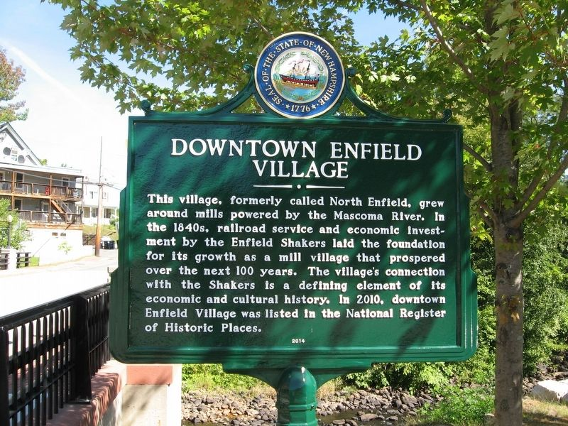 Downtown Enfield Village Marker image. Click for full size.