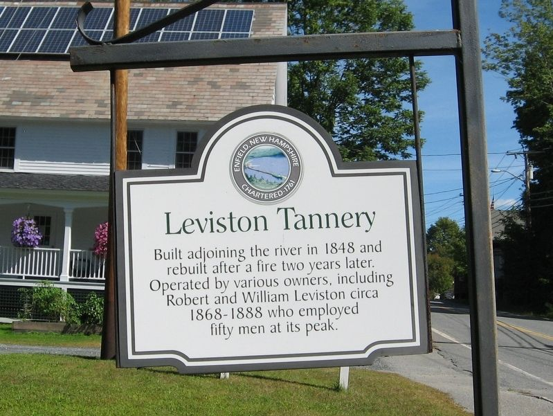 Leviston Tannery Marker image. Click for full size.