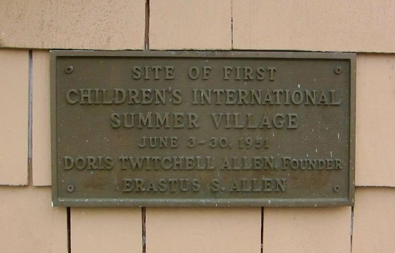 First Children's International Summer Village Marker image. Click for full size.