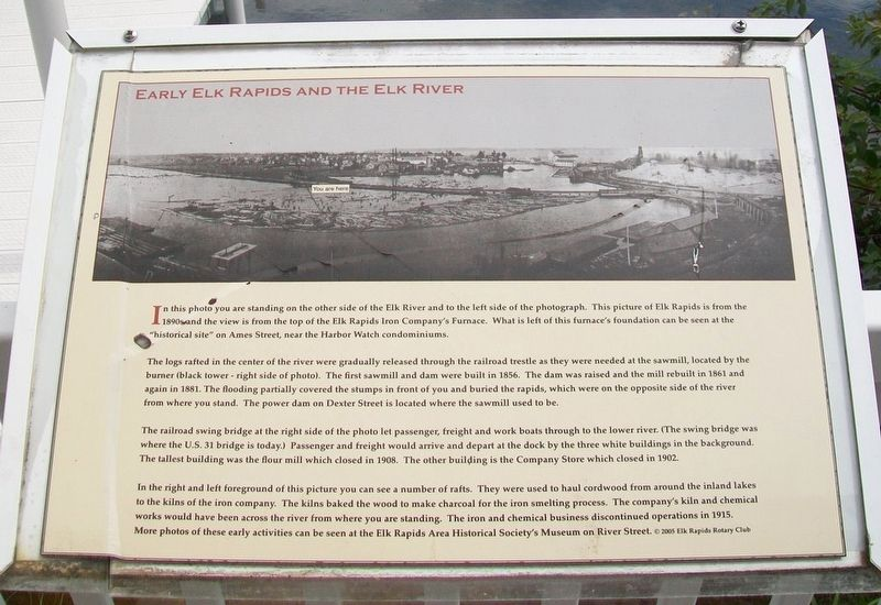 Early Elk Rapids and the Elk River Marker image. Click for full size.