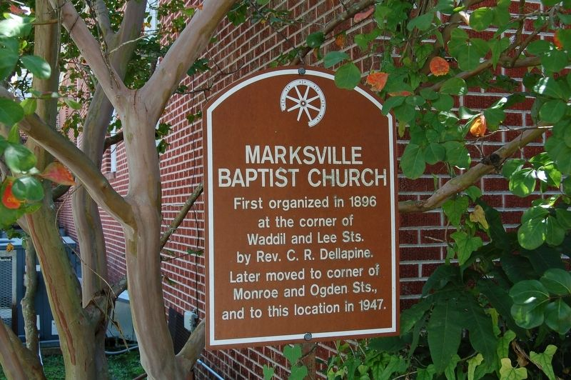 Marksville Baptist Church Marker image. Click for full size.