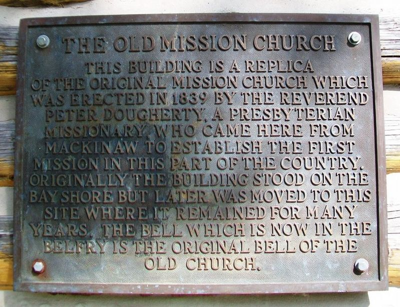 The Old Mission Church Marker image. Click for full size.