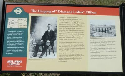 Hanging of Diamond L. Slim Clifton Marker image. Click for full size.