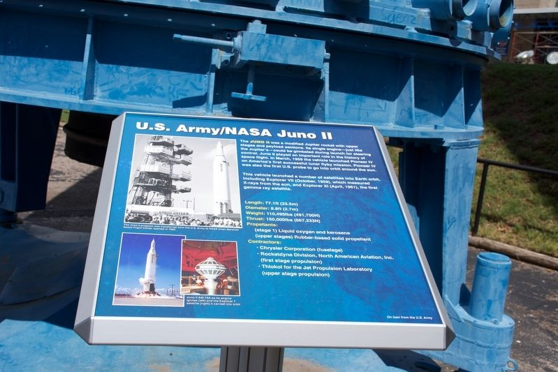 U. S. Army/NASA Juno II Marker image. Click for full size.