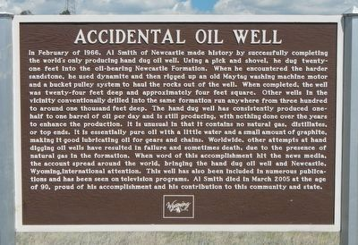 Accidental Oil Well Marker image. Click for full size.