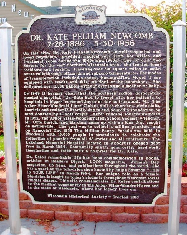 Dr. Kate Pelham Newcomb Marker image. Click for full size.