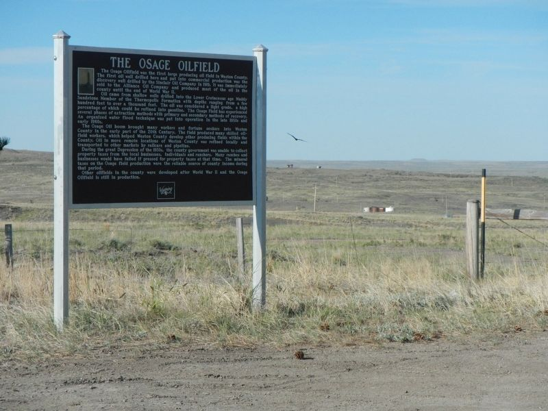 The Osage Oilfield Marker image. Click for full size.