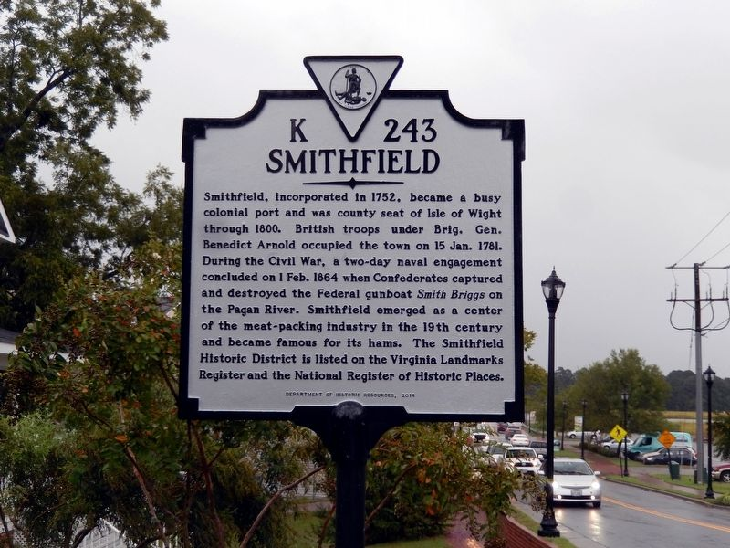 Smithfield Marker image. Click for full size.