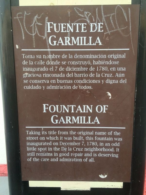 Fountain of Garmilla Marker image. Click for full size.