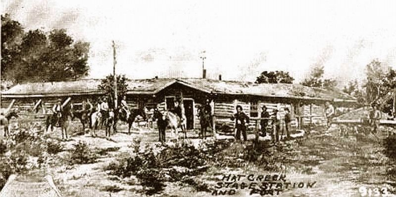 Old Hat Creek Stage Station image. Click for full size.
