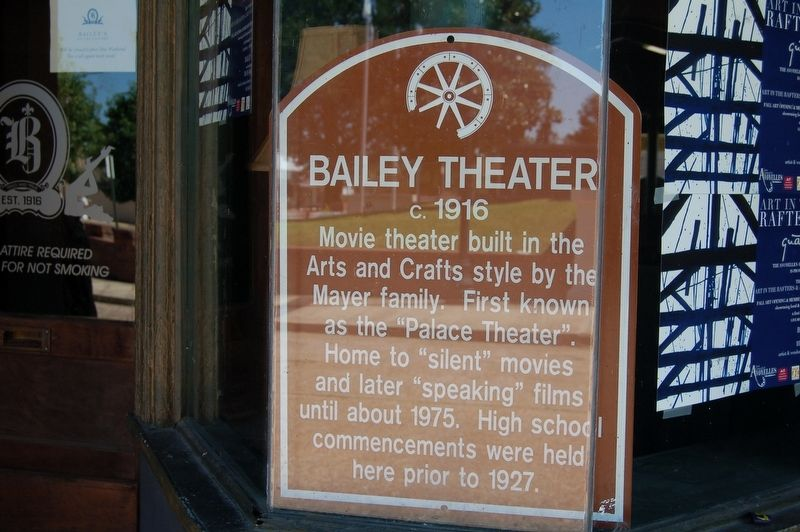 Bailey Theater Marker image. Click for full size.