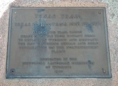 Texas Trail - 1866 - 1897 Marker image. Click for full size.