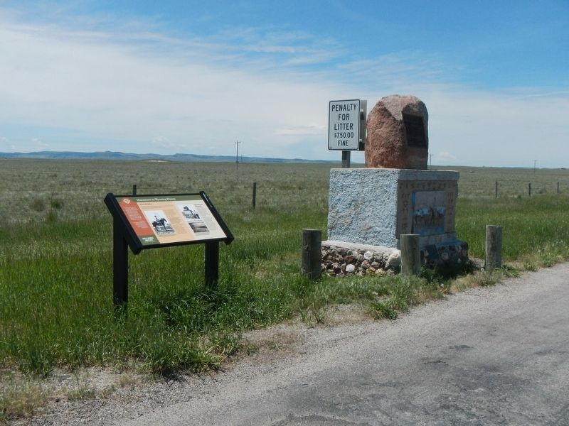 Monuments to Wyoming History Marker image. Click for full size.