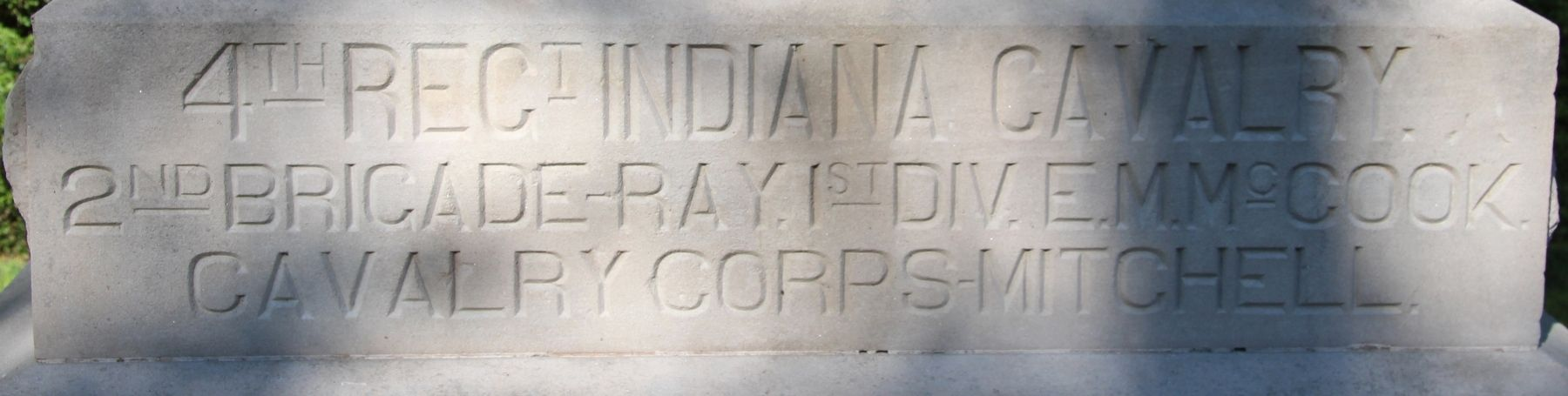4th Indiana Cavalry Marker image. Click for full size.