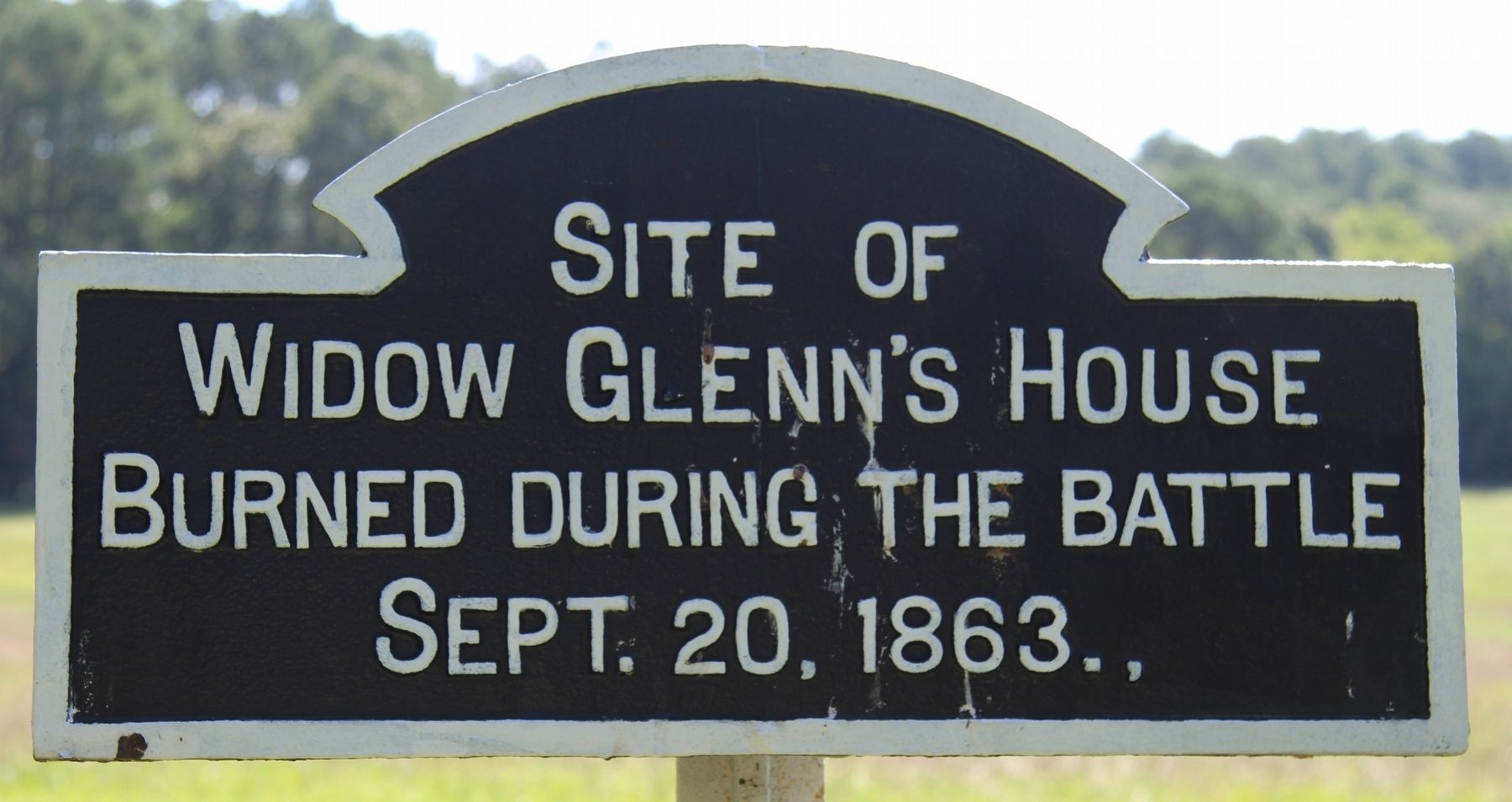 Widow Glenn's House Site Marker image. Click for full size.