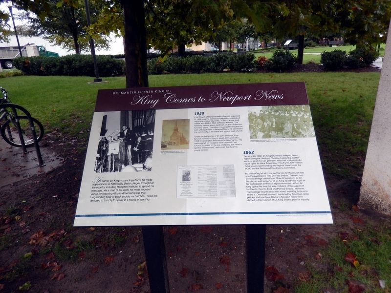 King Comes to Newport News Marker image. Click for full size.