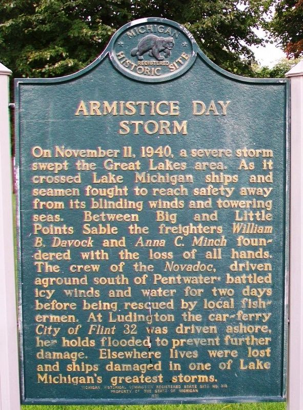 Armistice Day Storm Marker image. Click for full size.