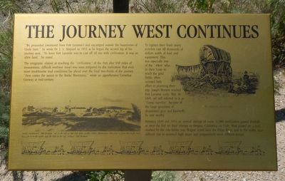 The Journey West Continues Marker image. Click for full size.