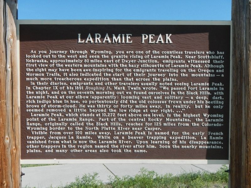 Laramie Peak Marker image. Click for full size.