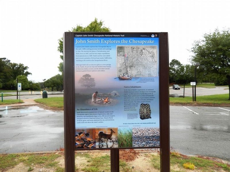 Captain John Smith explores the Chesapeake Marker-Panel 2 image. Click for full size.
