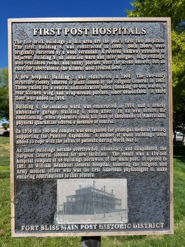 First Post Hospitals Marker image. Click for full size.