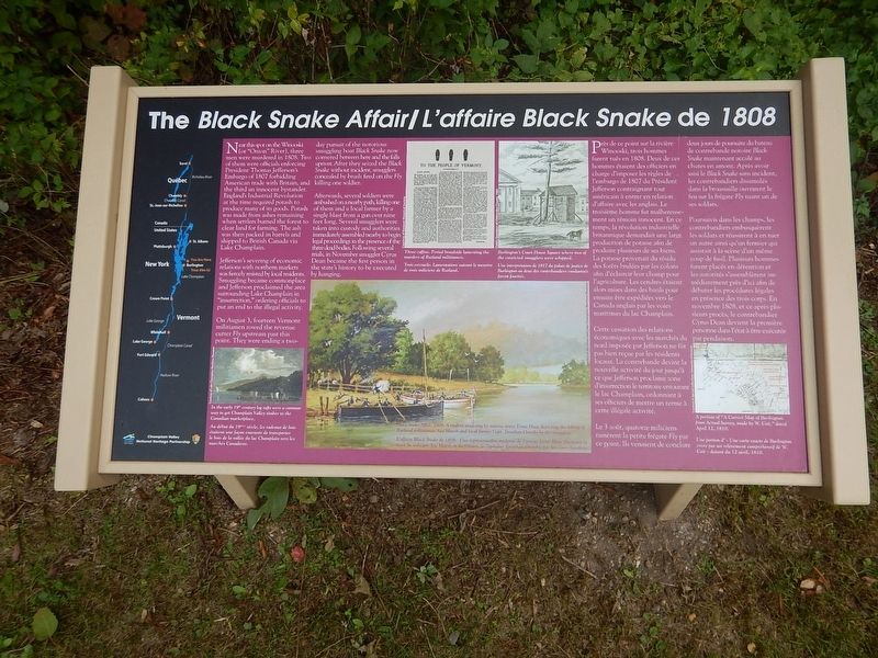 Another The Black Snake Affair Marker image. Click for full size.