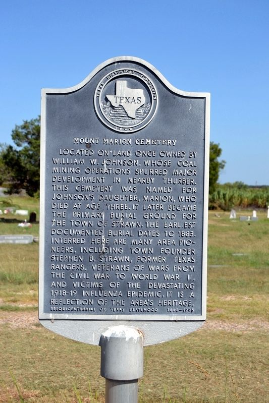Mount Marion Cemetery Marker image. Click for full size.