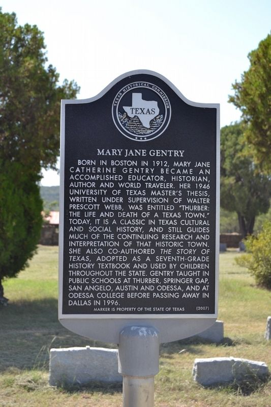 Mary Jane Gentry Marker image. Click for full size.
