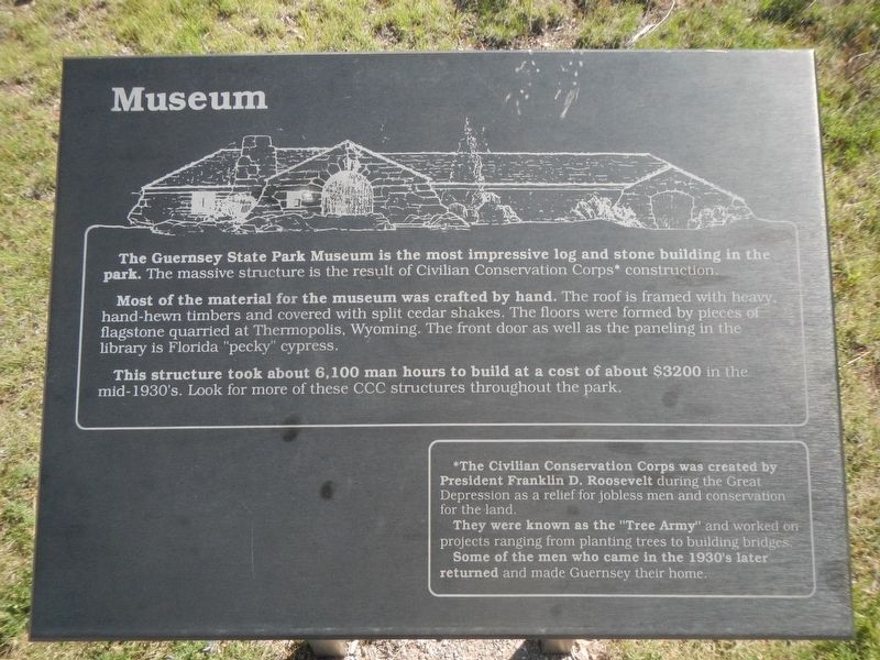 Guernsey State Park Museum Marker image. Click for full size.