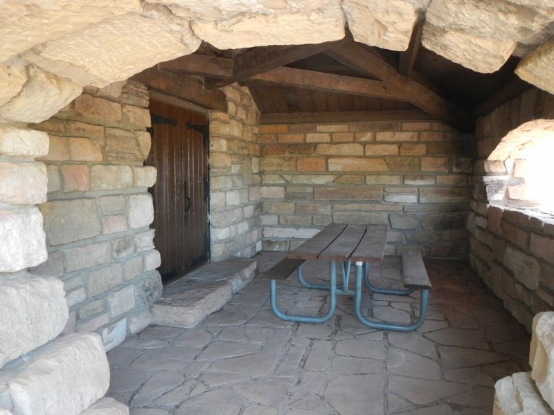 Guernsey State Park Museum, picnic alcove image. Click for full size.