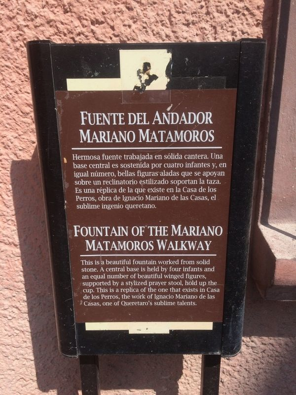 Fountain of the Mariano Matamoros Walkway Marker image. Click for full size.