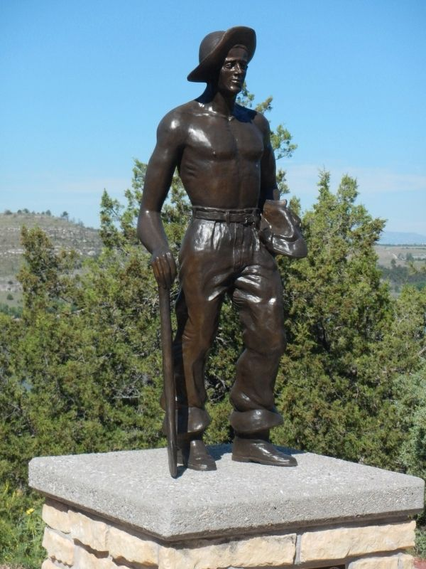 """CCC Worker"" statue near the Guernsey State Park (CCC) museum image. Click for full size."