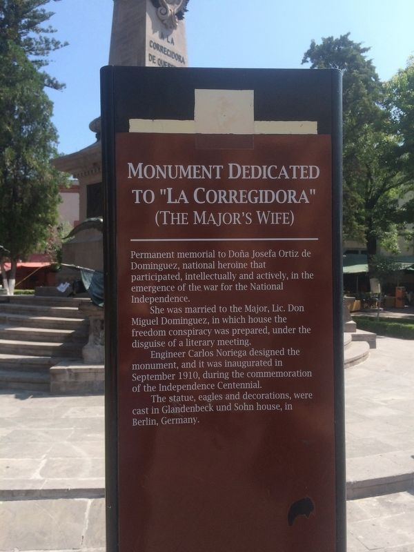 "Monument Dedicated to ""La Corregidora"" Marker image. Click for full size."