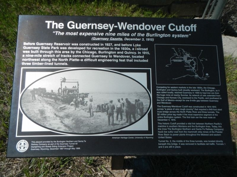 The Guernsey-Wendover Cutoff Marker image. Click for full size.