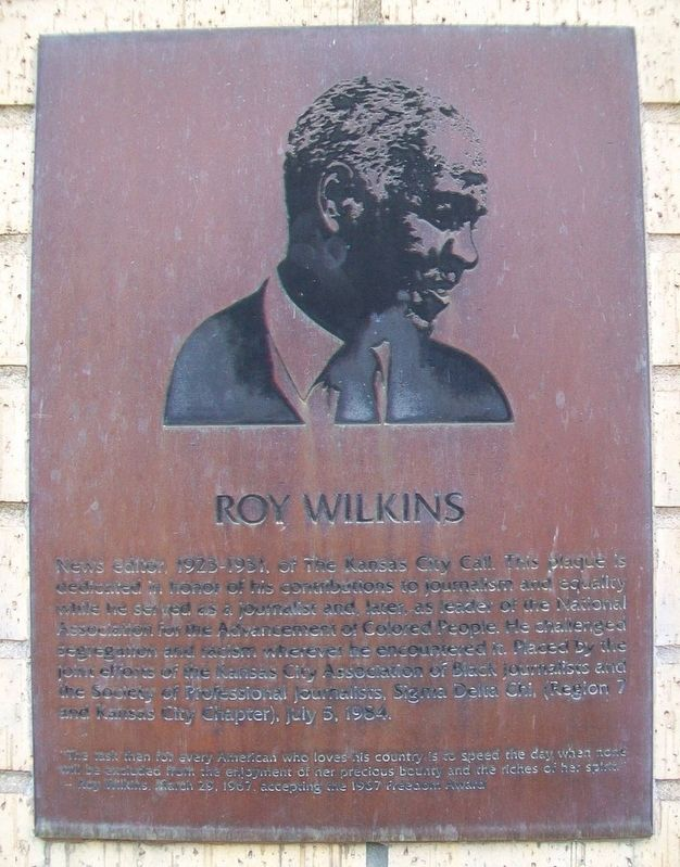 Roy Wilkins Marker image. Click for full size.