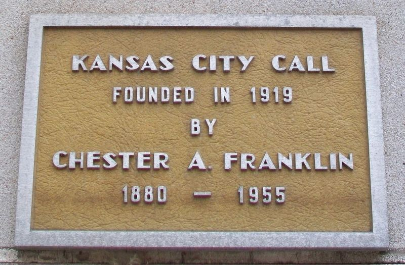 Kansas City Call Marker image. Click for full size.