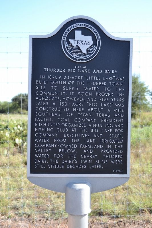Site of Thurber Big Lake and Dairy Marker image. Click for full size.